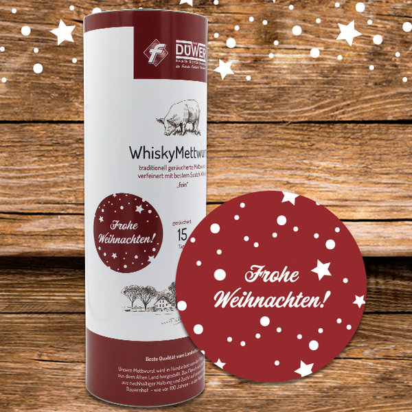 Whisky Mettwurst Weihnachtsedition